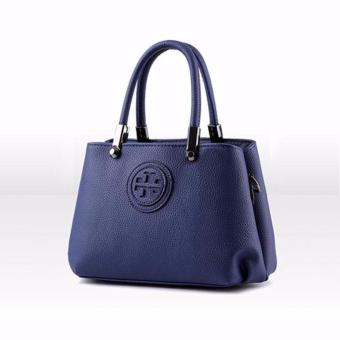 Túi nữ đeo chéo logo nổi Xanh