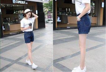 Women's Korean Style Elastic Highwaist Jeans Shorts - (Intl) - intl