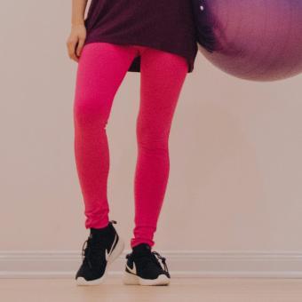 Quần legging dài hồng trơn QA06
