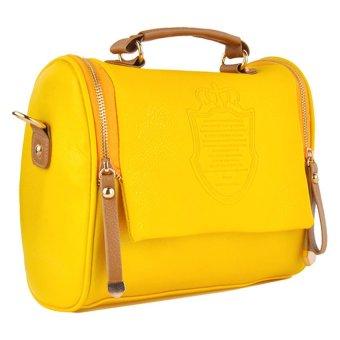 Cyber Women Handbag Cross Body Shoulder Bag Messenger Tote Bags (Yellow)
