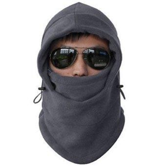 Warm Winter Beanie CS Hat Sport Clothing Cap Men Scarf Hood Ski Face Cover Mask Gray - intl
