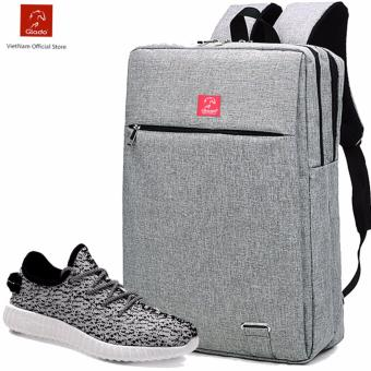 Combo Balo Cylinder BLC007GR + Giày Sneaker GS011WH ( Trắng ) - CB008