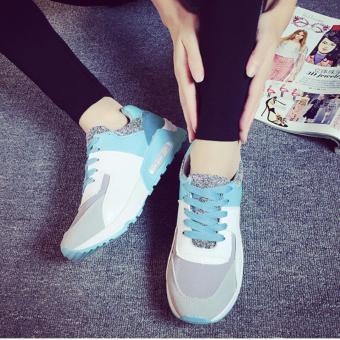 Giày Sneaker Thời Trang Nữ Sodoha SGP35X66 (Xám Phối Xanh)