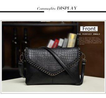 Fashion Small Bag Women Messenger Bags Soft PU Leather Handbags Crossbody Bag For Women Clutches (Black) - intl