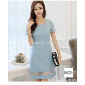Váy Đầm Suông Chữ A Thời Trang Thanh Lịch DRESSIE - DS0335C (Xanh Lam)