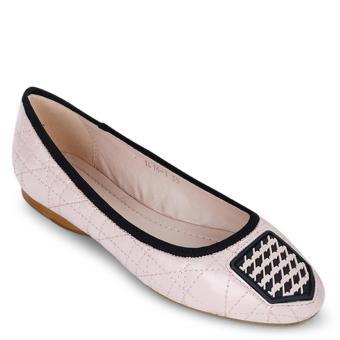 Giày Búp Bê Viền Chỉ Nổi