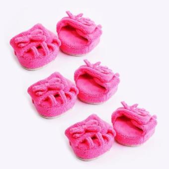 Bộ 3 đôi dép 5 ngón nửa bàn làm thon chân (Hồng)