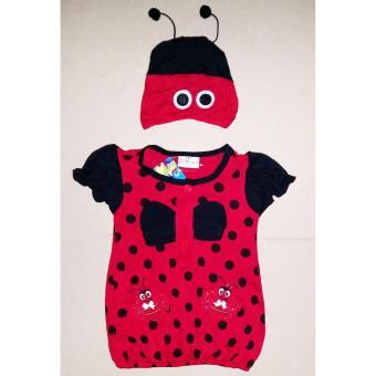 Đầm thun con ong bé gái sơ sinh 0 đến 2 tuổi TRI LAN DBG092 ( Đỏ )