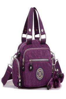 HKS Waterproof Nylon Handbag Shoulder Diagonal Bag Messenger Purple - intl