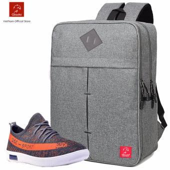 Combo Balo Cylinder BLC005GR + Giày Sneaker GS070BU (Xám) - CB002
