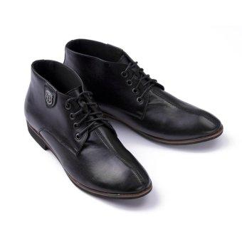 Giày Da Nam Cao Cổ, Lịch Lãm Tăng Chiều Cao Smartmen Gd-111-Đ (Đen)