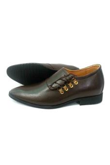 Giày tăng chiều cao nam TT10 cao 6.5 cm (Nâu)