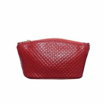 Túi Đeo Chéo Nữ Da Bò Vân Kiểu Cách (Đỏ).