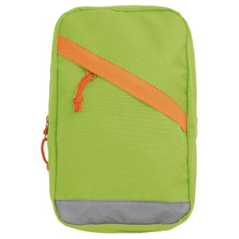 Unisex Men Women Nylon Big Capacity Casual Sports Travel Chest Bag Shoulder Sling Bag Money Phone Storage Bag Green - intl