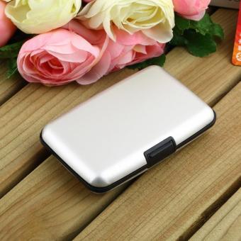 OH Waterproof Business ID Credit Card Wallet Holder Aluminum Metal Case Box Silver - intl