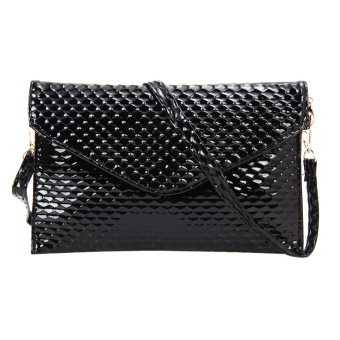 Fashion Lady Evening Clutch Shoulder Bag(Black) - intl