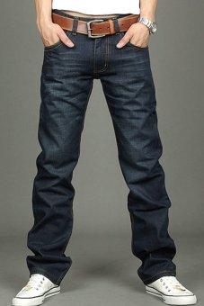 Cyber Straight Leg Jeans (Blue) - intl