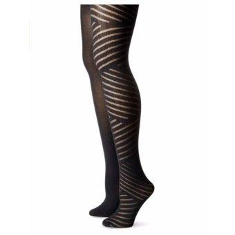 Bộ 2 đôi tất chân nữ Isaac Mizrahi New York Women's Diagonal Stripe Tights