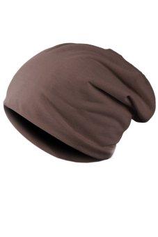 Unisex Casual Hip-hop Beanie Hat (Brown)