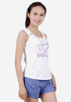Bộ Đồ Mặc Nhà Nữ Narsis M6042 Xanh Trắng In Hoa