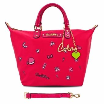 Túi tote cỡ trung lạ mắt Carlo Rino 0303293-302-24 (màu hồng)