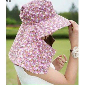 Mũ chống nắng 2 lớp vành to kèm khẩu trang Chipxinhxk