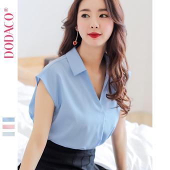 Áo Kiểu Cho Nữ Áo Sơ Mi Không Tay Phong Cách Hàn Quốc Thời Trang DODACO DDC1881 XADT ANU S - L BS213RX (Xanh Da Trời)