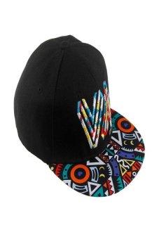 HKS Men Women Snapback Baseball Cap Adjustable Hip-Hop Flat Outdoor Sport Summer Hat Black - Intl - intl