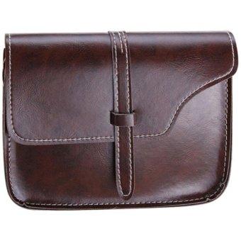 Bluelans Women Faux Leather Messenger Shoulder Bag Satchel Tote Handbag (Coffee) (Intl)