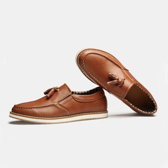 Giày lười nam HQ111 (Nâu bò)