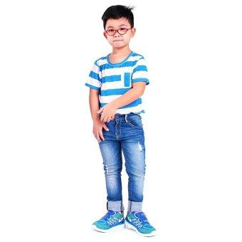 Áo thun bé trai Ugether UKID58 (Sọc xanh dương)