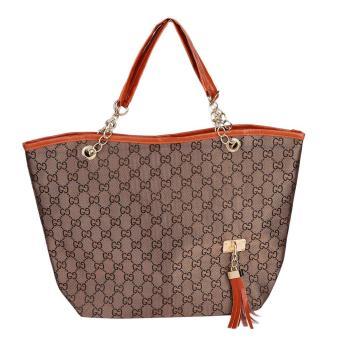 OH Fashion Lady Hobo Shoulder Bag Purse Satchel Tote Tassel pendant Handbag Brown - Intl