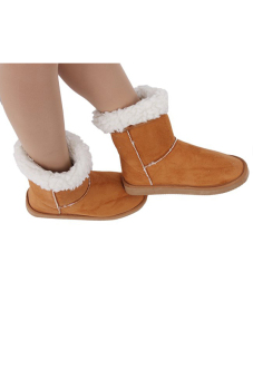 LALANG Chic Ladies Womens Rubber Sole Snow Ankle Boots Winter Warm Flat Casual Shoes - Camel - intl