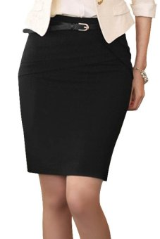 Cyber High Waist Skirts (Black) - intl