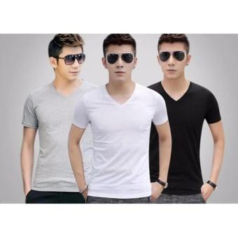 Bộ 3 áo thun 100% COTTON cổ tròn cao cấp mềm mịn, thấm hút tốt ( đen, trắng, xám ) thoitrangtrandoanh