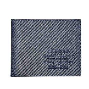 Slim Men Leather Bifold Wallet Blue