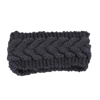 Fancyqube Women Ear Warmer Headwrap Headband Dark Grey