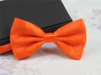 Classic Fashion Men Wedding Tuxedo Bowtie Necktie Adjustable Bow Tie Solid Multi-Color - intl