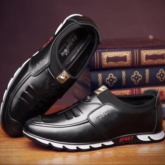 Giày thời trang nam thiết kế sắc sảo dễ dàng phối đồ 605_màu đen