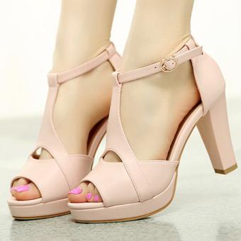 Giày cao gót hở mũi giày xinh CG96GX (Hồng)