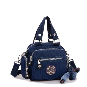 Waterproof Nylon Handbag Shoulder Diagonal Bag Messenger Deep Blue (Intl)