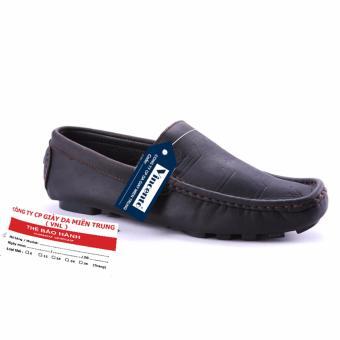 Giày lười nam Da Thật Cao cấp chính hãng Giày Da Miền Trung chính hãng VCTMS6LZD002D-1 (màu Đen )