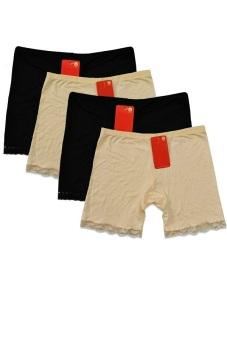 Bộ 4 quần ôm mặc trong váy SoYoung 4WM QU INSKIRT 001 2B 2NU (Đen và nude)