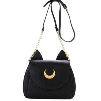Sailor Moon Shoulder Bag Ladies Luna Leather Handbag Women Crossbody Messenger - intl