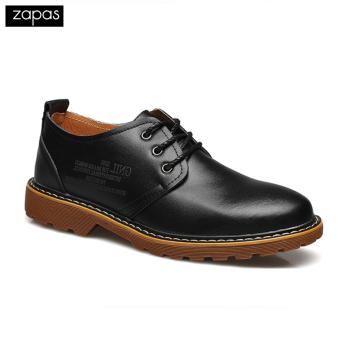 Giày tây buộc dây mũi tròn Zapas GC086 (Đen)