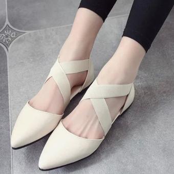 Giày nữ kiểu dáng lại mắt dễ dàng phối đồ 168 (kem)