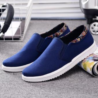 Giày lười vải nam - CV01 (Xanh)