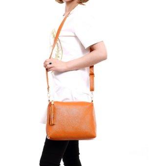 Woman Fashion Elegant Cross Body Shoulder Bags Clutch Tote Purse Bag - intl