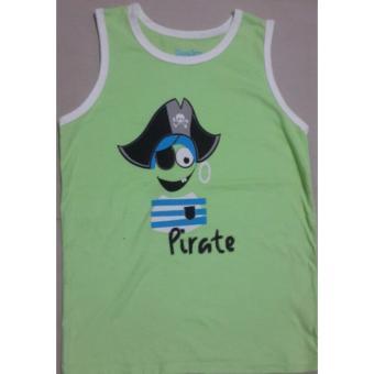 Áo ba lỗ Pirate màu xanh cho bé 6-8 tuổi