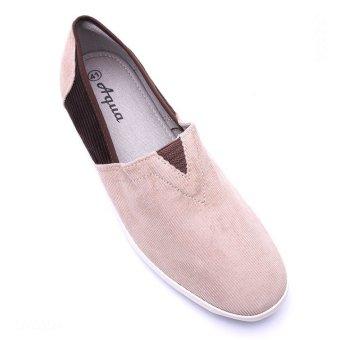 Giày lười nam Aqua Sportswear L002K (Kem phối nâu)